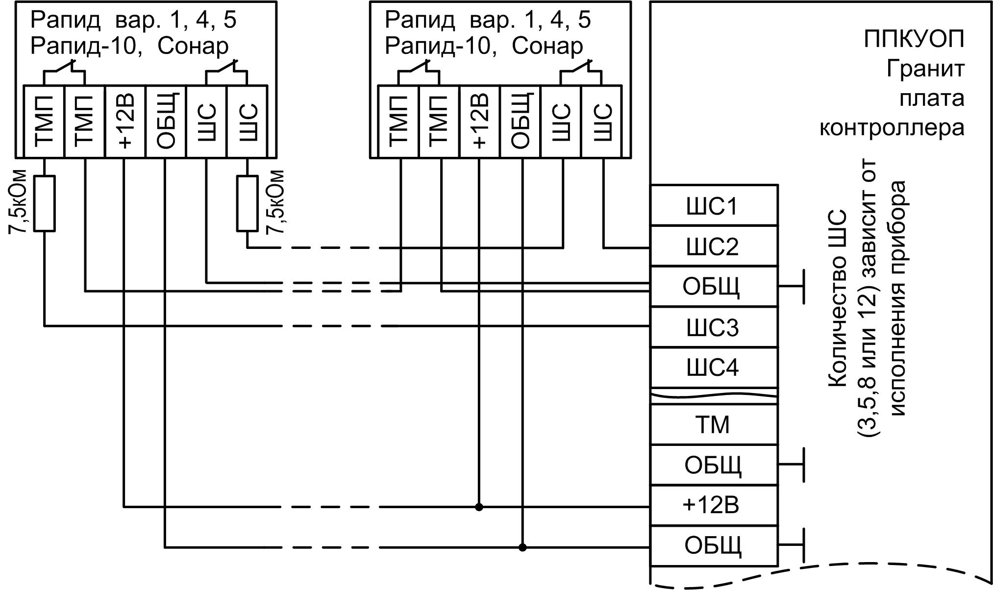 Схема прибора гранит-8